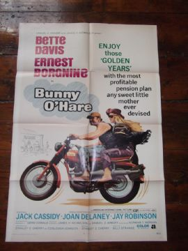 Bunny O'Hare, Movie Poster, Bette Davis, Ernest Borgnine '71